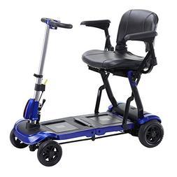 ZooMe FLEX Ultra Compact Folding Travel 4 Wheel Mobility Sco